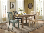Janina 5 Piece Dining Set in Pine by Home Elegance - HEL-5516-66-5