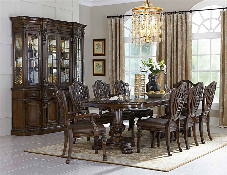 Chilton 7 Piece Double Pedestal Dining Set In Cherry By Home Elegance Hel 5531 112