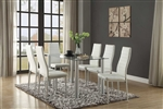 Florian 5 Piece Dining Set in White by Home Elegance - HEL-5538W-5