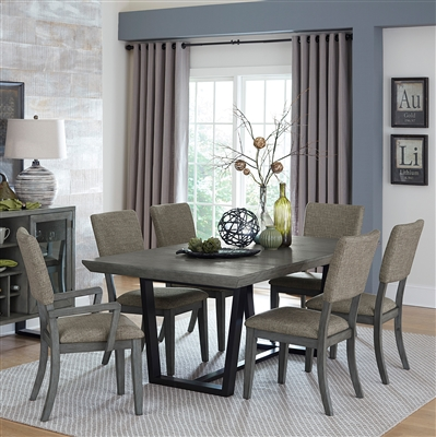 Avenhorn 7 Piece Dining Set in Gray by Home Elegance - HEL-5569-78-7