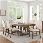Chartreaux 5 Piece Dining Set in Natural Tone by Home Elegance - HEL-5589-90-5