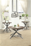 Fideo 3 Piece Occasional Table Set in Burnished by Home Elegance - HEL-5606-31-3PK