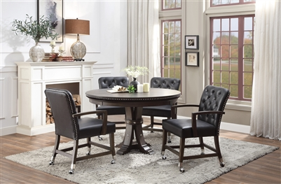 Ante 5 Piece Round Dining Set With Reversible Table Top by Home Elegance - HEL-5609-48-5