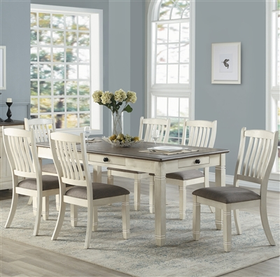 Granby 5 Piece Dining Set in Two-tone by Home Elegance - HEL-5627W-72-5