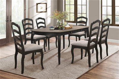 Coring 7 Piece Dining Set in 2-Tone by Home Elegance - HEL-5704-72-7