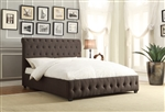 Baldwyn Queen Bed in Dark Gray by Home Elegance - HEL-5789N-1