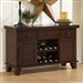Ameillia Server in Dark Oak by Home Elegance - HEL-586-40