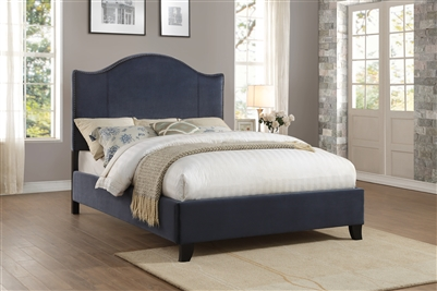 Carlow Queen Bed in Navy by Home Elegance - HEL-5874NV-1