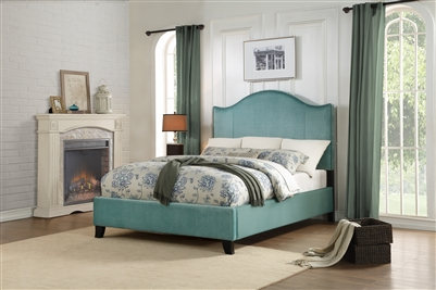 Carlow Queen Bed in Teal by Home Elegance - HEL-5874TE-1