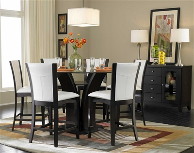 Daisy 5 Piece Round Counter Height Dining Set in Espresso by Home Elegance - HEL-710-36RD-5W
