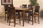 Verona 5 Piece Counter Height Dining Set in Amber by Home Elegance - HEL-727-36-5
