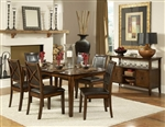 Verona 7 Piece Dining Set in Amber by Home Elegance - HEL-727-72-7