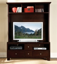 Hailey 2 Piece Entertainment Center in Espresso Finish by Homelegance - 8020