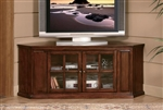 "Hayden 62"" TV Stand in Burnish Oak by Home Elegance - HEL-8048-T"