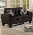 Sinclair Love Seat in Chocolate by Home Elegance - HEL-8202CH-2