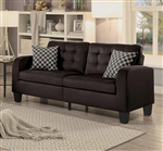 Sinclair Sofa in Chocolate by Home Elegance - HEL-8202CH-3
