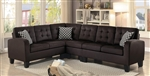 Sinclair Sectional Sofa in Chocolate by Home Elegance - HEL-8202CH-SC