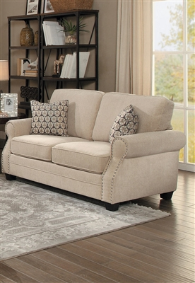 Bechette Love Seat in Natural Tone by Home Elegance - HEL-8204-2