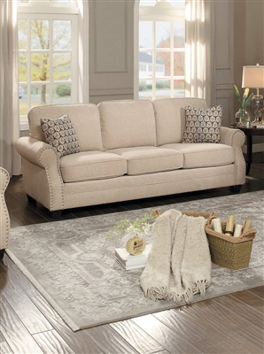 Bechette Sofa in Natural Tone by Home Elegance - HEL-8204-3