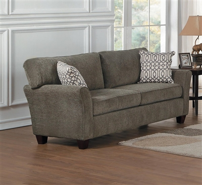Alain Love Seat in Brownish Gray by Home Elegance - HEL-8225-2