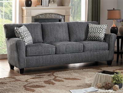 Alain Sofa in Lightly Textured Gray by Home Elegance - HEL-8225NGY-3