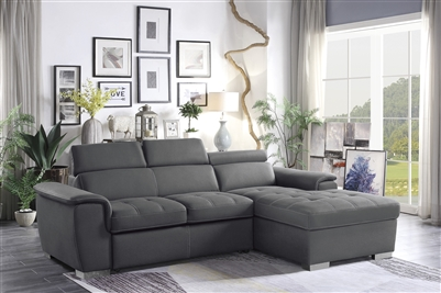 Ferriday Sectional Sofa in Gray by Home Elegance - HEL-8228GY