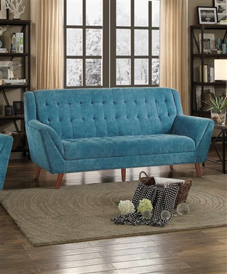 Erath Sofa in Blue by Home Elegance - HEL-8244BU-3
