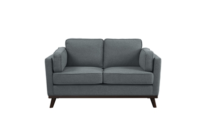 Bedos Love Seat in Gray by Home Elegance - HEL-8289GY-2