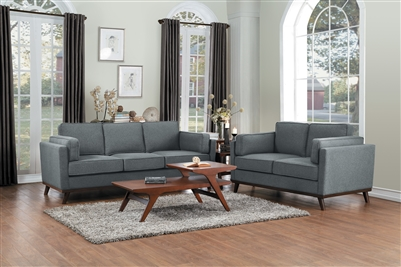 Bedos 2 Piece Sofa Set in Gray by Home Elegance - HEL-8289GY