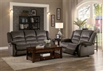 Jarita 2 Piece Double Reclining Sofa Set in Chocolate by Home Elegance - HEL-8329CH