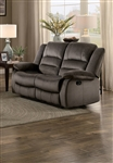 Jarita Double Reclining Love Seat in Chocolate by Home Elegance - HEL-8329CH-2
