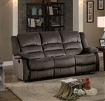 Jarita Double Reclining Sofa in Chocolate by Home Elegance - HEL-8329CH-3