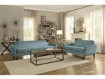 Ajani 2 Piece Sofa Set in Teal by Home Elegance - HEL-8379TL