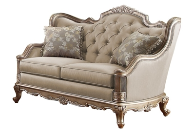 Florentina Love Seat in Dusky Taupe by Home Elegance - HEL-8412-2