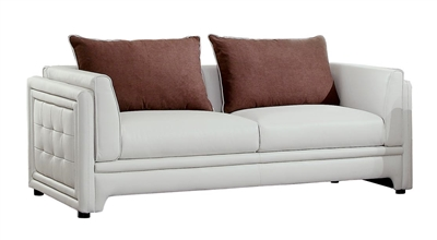 Azure Sofa in Off-White by Home Elegance - HEL-8478-3