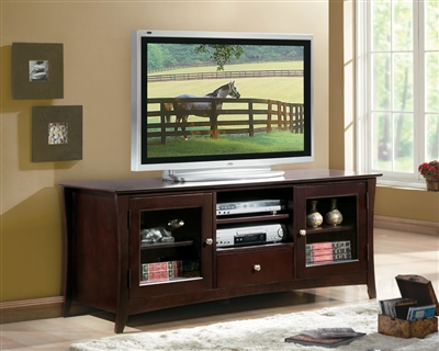 "Borgeois 60"" TV Stand in Espresso by Home Elegance - HEL-8740-T"