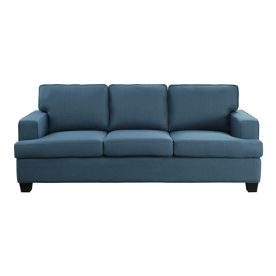 Elmont Sofa in Blue by Home Elegance - HEL-9327BU-3