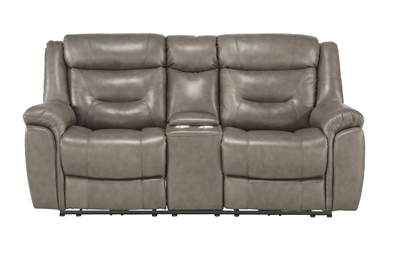 Danio Power Double Reclining Love Seat in Brownish Gray by Home Elegance - HEL-9528BRG-2PWH