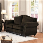 Midwood Love Seat in Chocolate by Home Elegance - HEL-9616CN-2