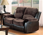 Cranley Power Double Reclining Love Seat in Chocolate by Home Elegance - HEL-9700FCP-2PW