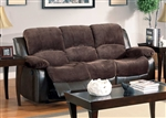 Cranley Power Double Reclining Sofa in Chocolate by Home Elegance - HEL-9700FCP-3PW
