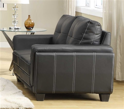 Dwyer Love Seat in Black by Home Elegance - HEL-9701BLK-2