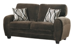 Rubin Love Seat in Chocolate by Home Elegance - HEL-9734CH-2