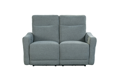 Edition Power Double Lay Flat Reclining Love Seat in Dove Gray by Home Elegance - HEL-9804DV-2PWH