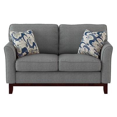 Blue Lake Love Seat in Gray by Home Elegance - HEL-9806GRY-2