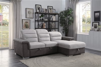 Alfio Sectional Sofa in Two-tone by Home Elegance - HEL-9808-SC
