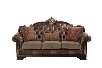 Croydon Sofa in Rich Cherry by Home Elegance - HEL-9815-3