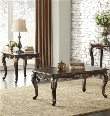 Croydon 2 Piece Occasional Table Set in Rich Cherry by Home Elegance - HEL-9815-30