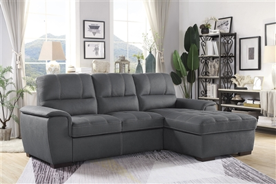 Andes Sectional Sofa in Gray by Home Elegance - HEL-9858GY-SC