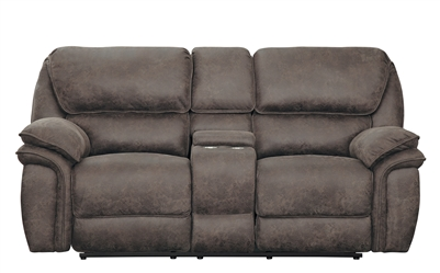 Hadden Double Reclining Love Seat in Dark Brown by Home Elegance - HEL-9903DB-2